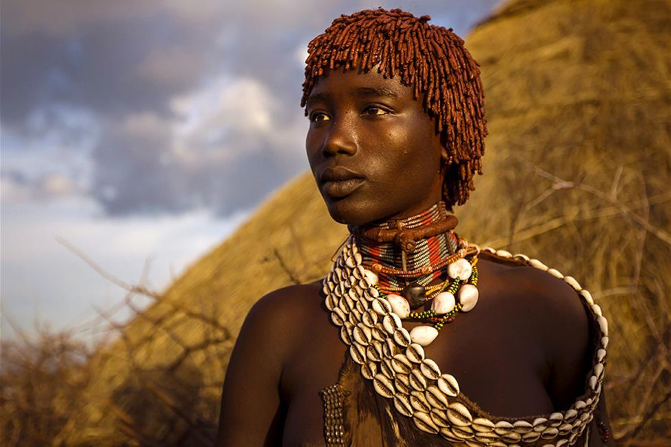 امراة من قبيلة الهامر فى اثيوبيا