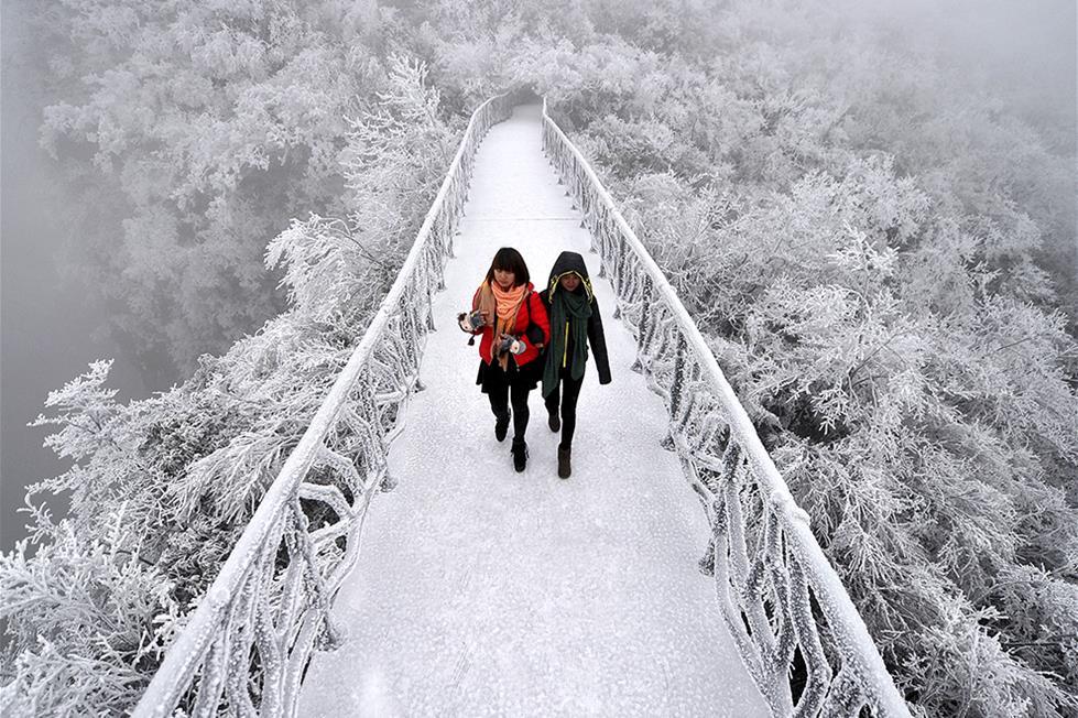 جبال تيانمن فى الصين ـ رويترز