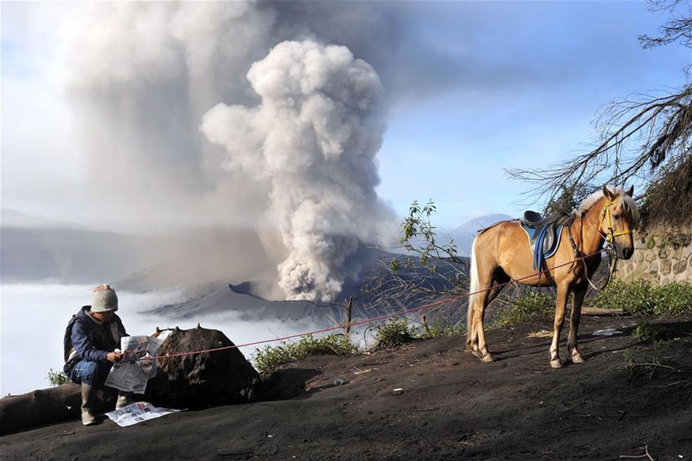 بركان برومو فى اندونيسيا ـ تصوير ايفان تايخى