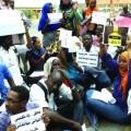 شباب يحتجون على البطالة ــ أرشيفية