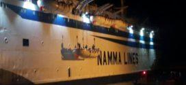 نجاة 840 راكب من حريق هائل في باخرة بميناء سواكن