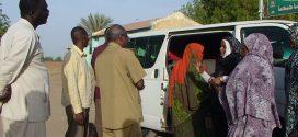 لجنة المرأة المنصورية تسير قافلة رمضانية الي المناصير غرب الحصاحيصا