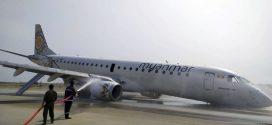 نجاة ركاب طائرة هبطت من دون عجلات